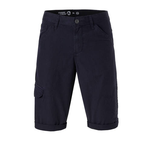 regular fit bermuda marineblauw