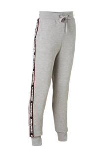 LMTD sweatpants Lonas met zijstreep grijs