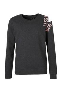 LMTD sweater Olinet met open shoulder grijs (meisjes)