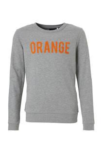 LMTD sweater Olilli met tekst grijs (meisjes)