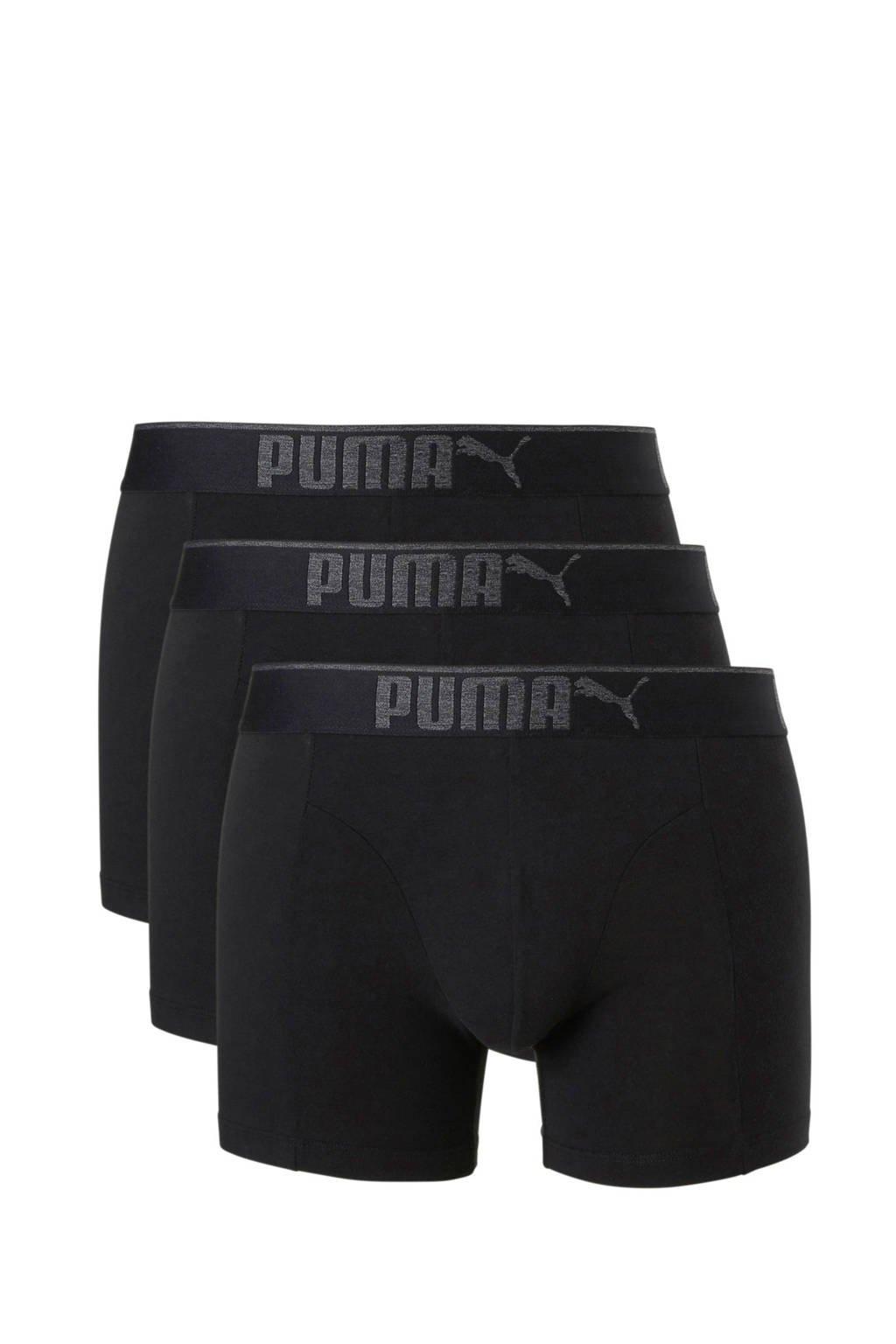 Puma boxershort (set van 3), zwart / grijs
