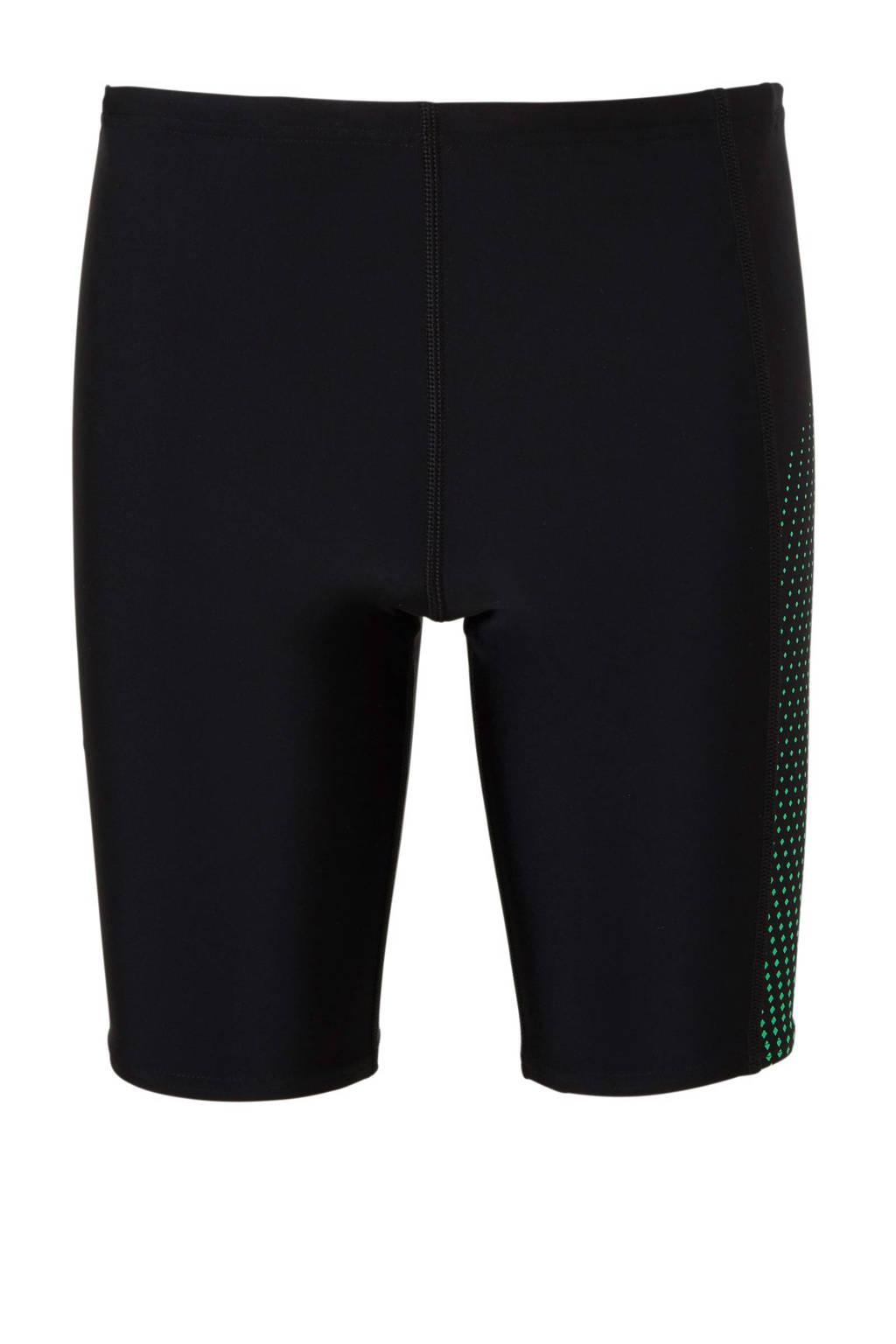 Speedo Endurance 10 jammer met printopdruk zwart/groen, Zwart/groen