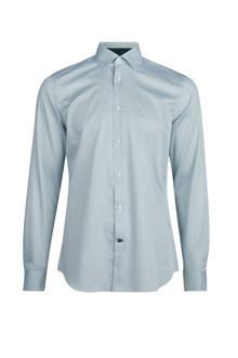 slim fit overhemd met stippendessin