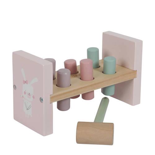 Little Dutch houten hamerbank avontuur roze kopen