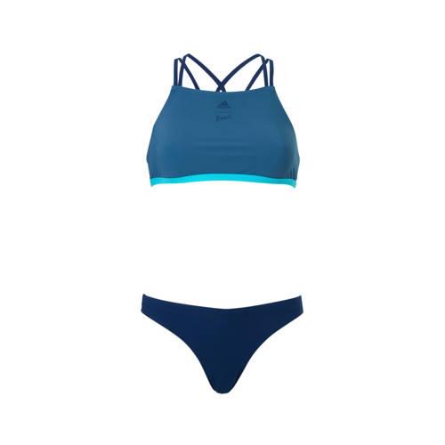 infinitex crop bikini blauw