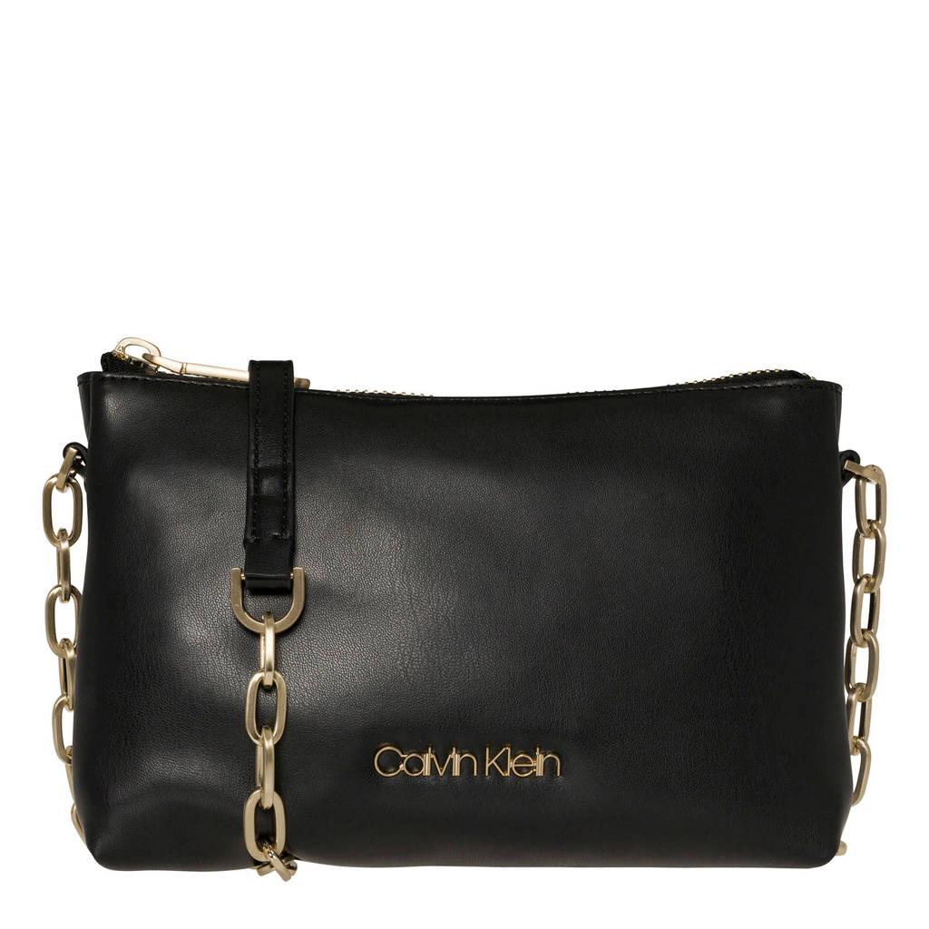 Calvin Klein   crossbody tas Fold Ew, Zwart