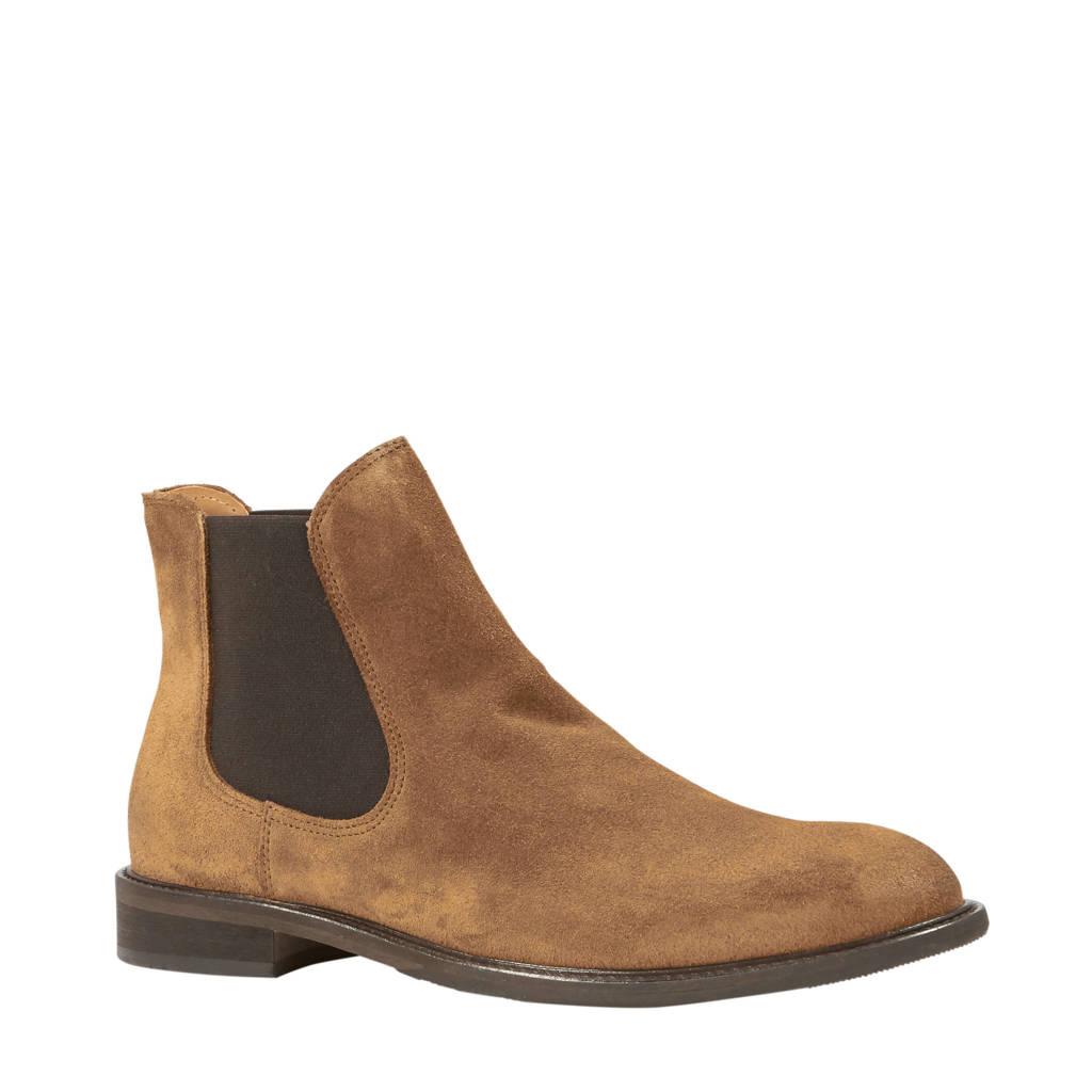 SELECTED HOMME   leren chelsea boots, Cognac