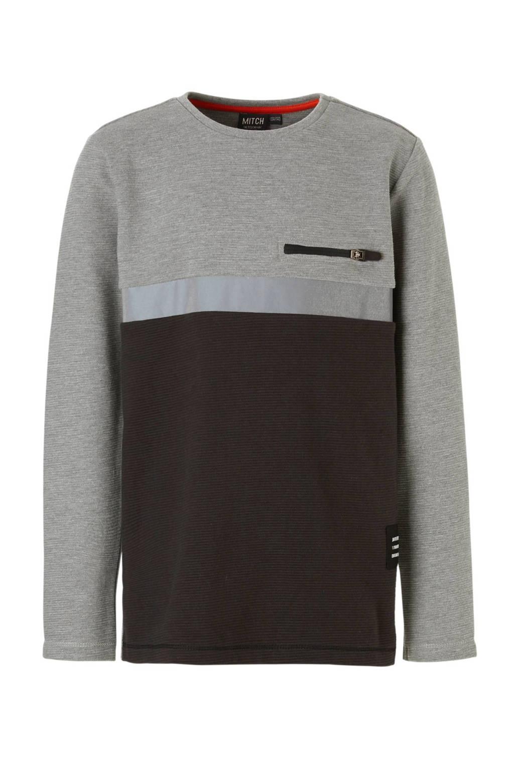 Mitch sweater Djay grijs, Grijs/zwart