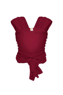 Stretchy wrap deluxe draagdoek maat M berry red