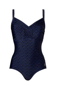 prothese badpak all over print blauw/zwart