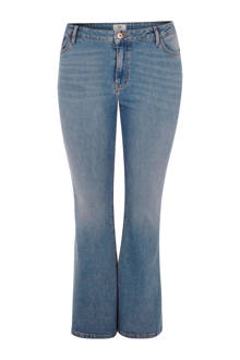 Plus high waist flared jeans met split