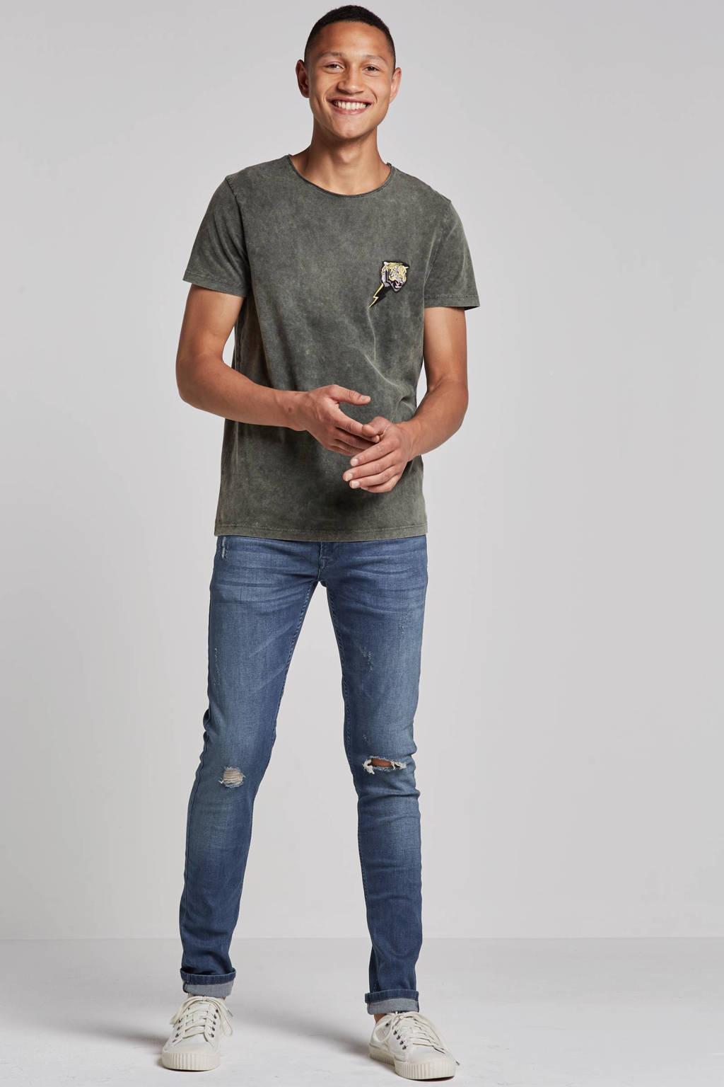 Redefined Rebel slim fit jeans Stockholm Destroy, Dark indigo