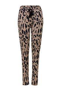 Miss Etam Lang tapered fit broek met luipaardprint (dames)