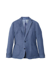 Mango Man regular fit linnen colbert blauw (heren)