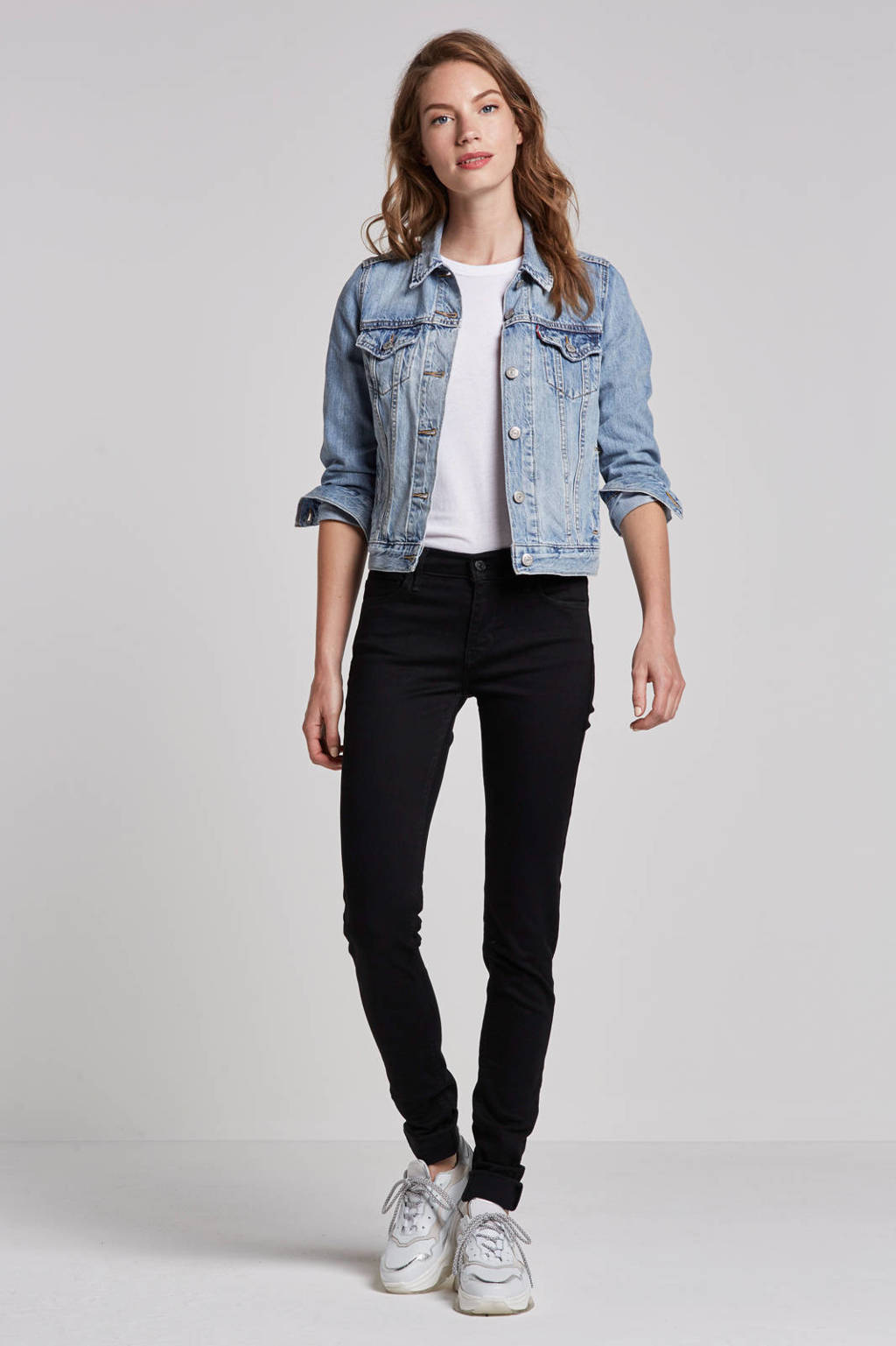 Levi's 710 Innovation super skinny fit jeans, Zwart