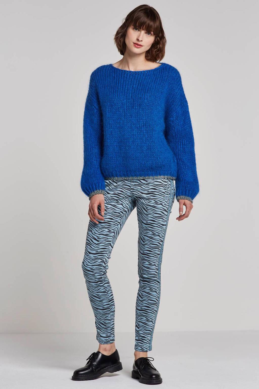 Summum Woman broek, Lichtblauw/zwart