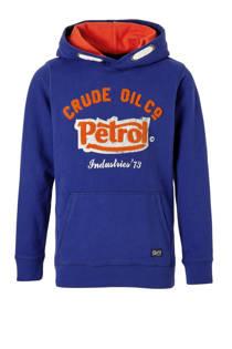 Petrol Industries hoodie met logo blauw (jongens)