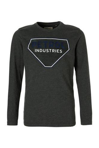 longsleeve met logo grijs