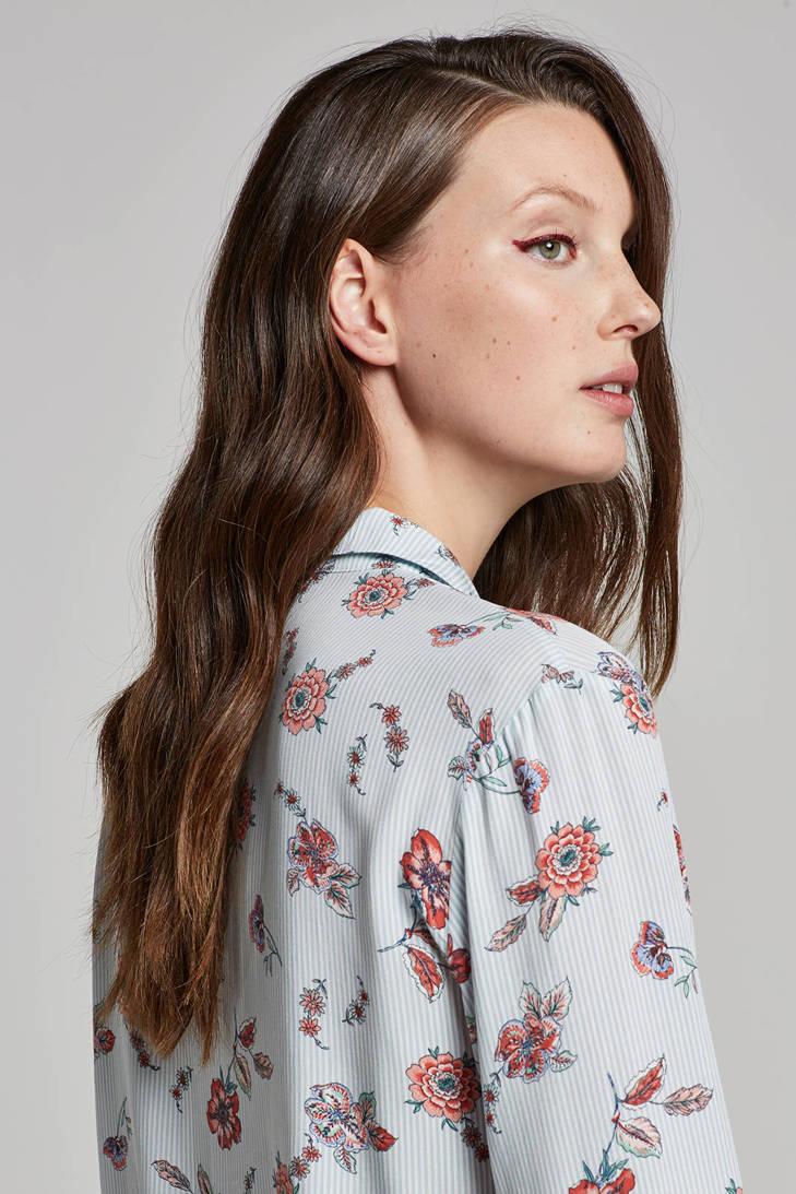Casual bloemenprint en blouse Women strepen met ESPRIT 0qwvSY5x