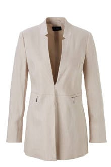 YSS Shop lange blazer met linnen beige