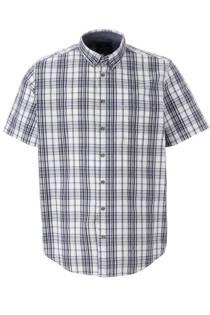 C&A XL Canda geruite regular fit overhemd blauw (heren)