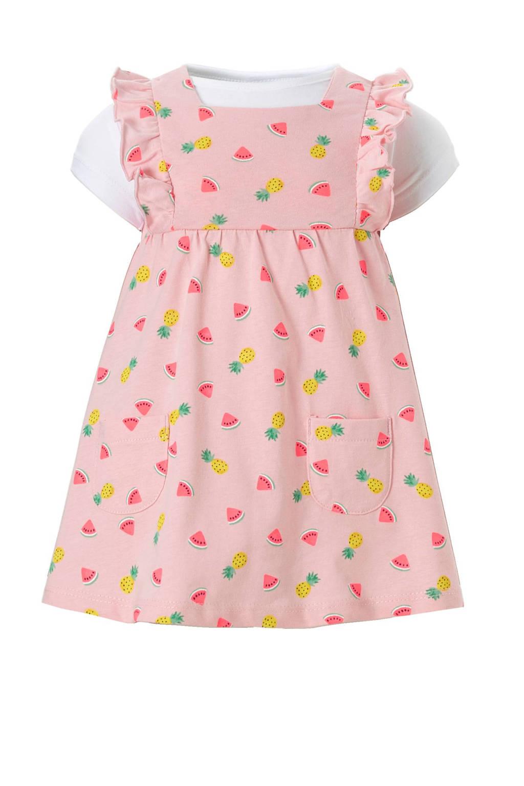 C&A Baby Club T-shirt + jurk met fruit lichtroze, Lichtroze