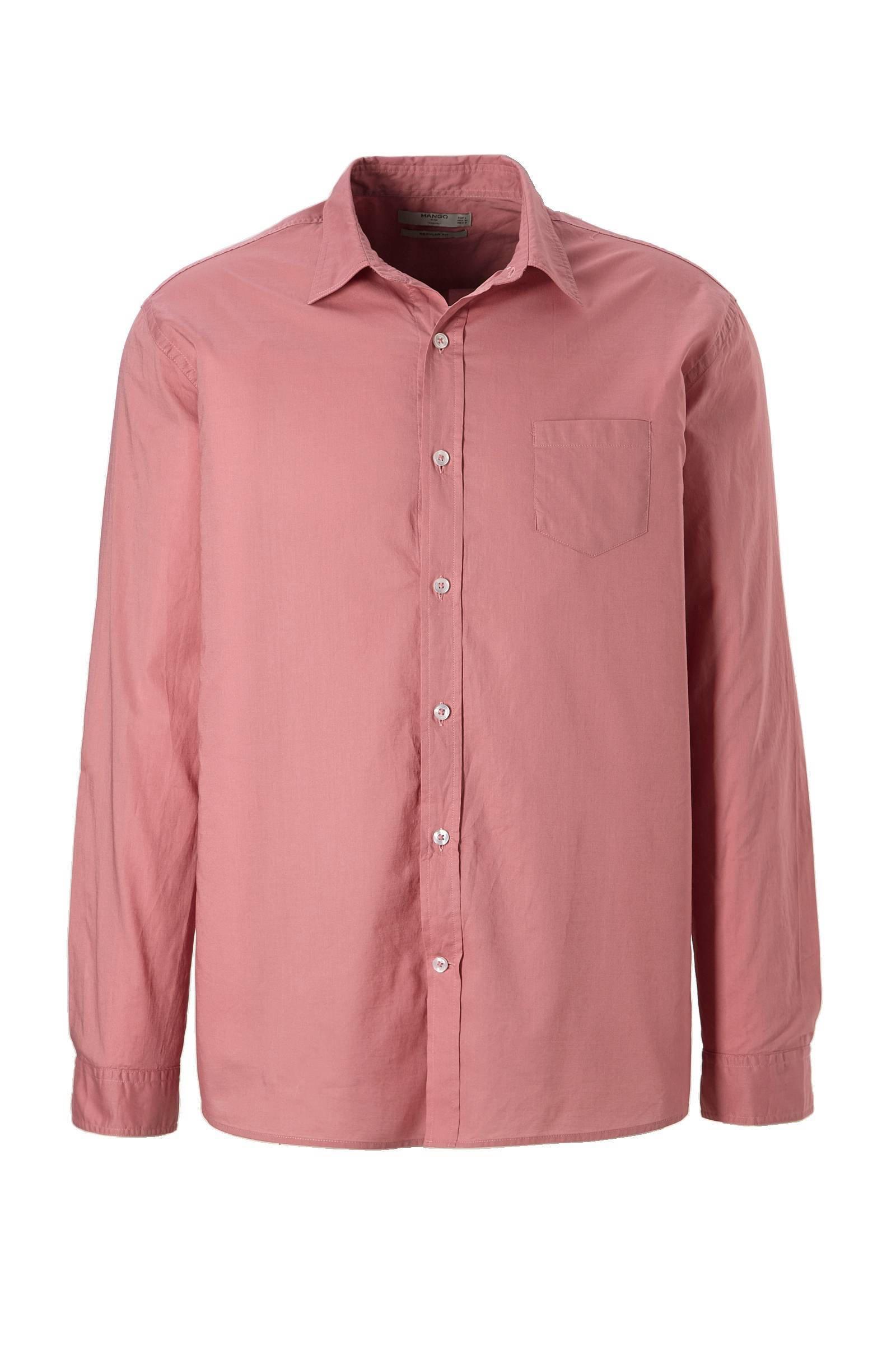 Roze Heren Overhemd.Mango Man Regular Fit Overhemd Roze Wehkamp
