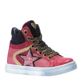 sneakers met glitters fuchsia