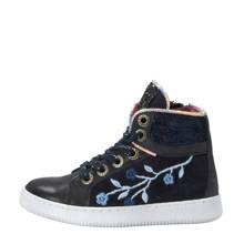 leren sneakers met glitters marine