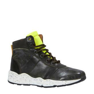 leren sneakers donkerbruin