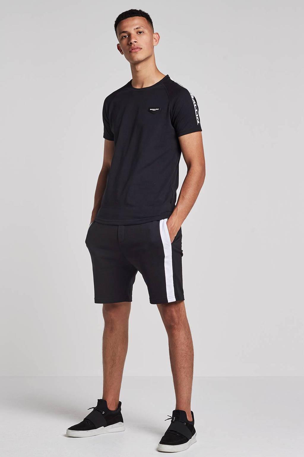 Ballin by Purewhite T-shirt, Zwart/wit