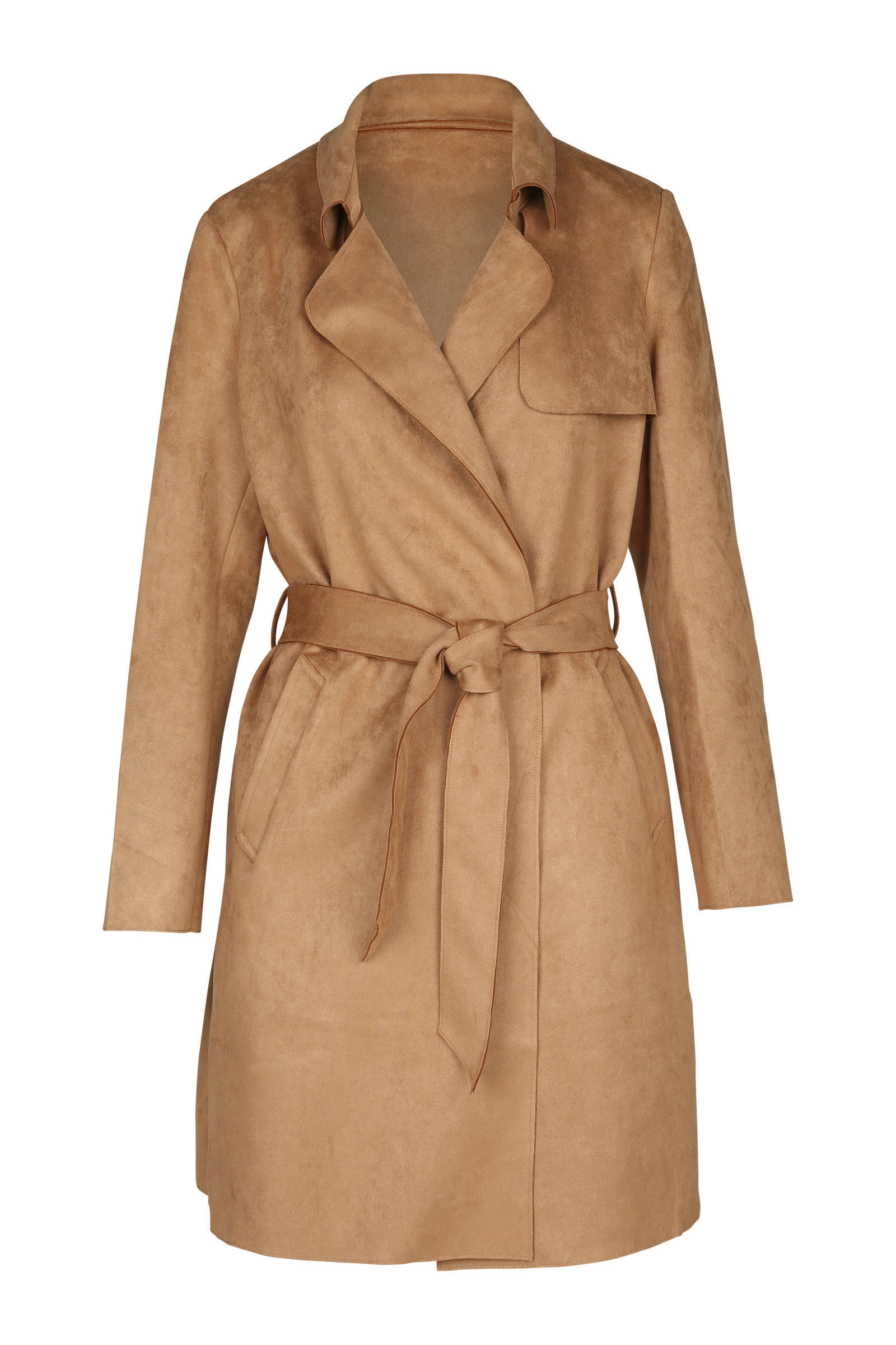 Cassis suèdine trenchcoat bruin (dames)
