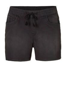 The Denim slim fit jeans short zwart