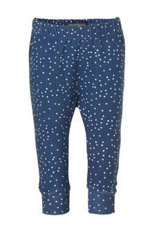 broek met stippen blauw