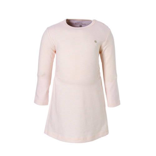newborn gestreepte jurk Elwyn lichtroze