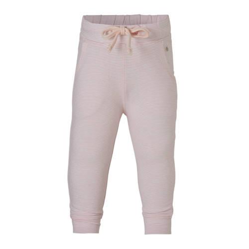 baby broek met strepen roze