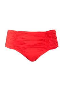 Mix & Match bikinibroekje met plooien rood