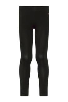 legging met tekstopdruk zwart