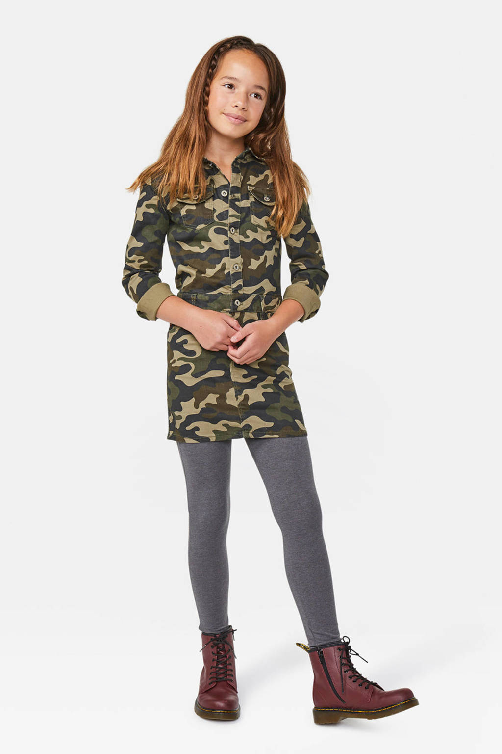 WE Fashion Fundamental legging grijs, Grijs