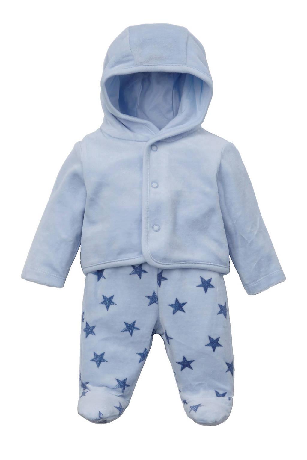C&A Baby Club vest + broek lichtblauw, Lichtblauw