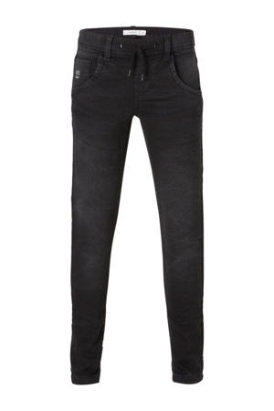 slim fit jog denim Robin zwart