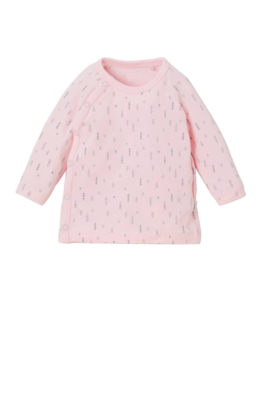 NAME IT BABY longsleeve met all over print roze, Roze