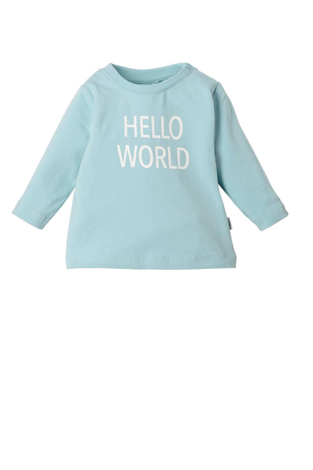 name it BABY newborn baby longsleeve, MINT/WIT