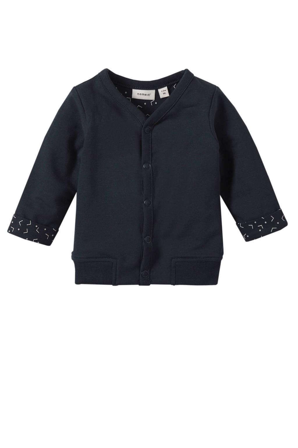 name it BABY newborn baby vest Delimo, Donkerblauw