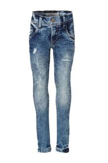 KIDS skinny jeans Pete met slijtage details