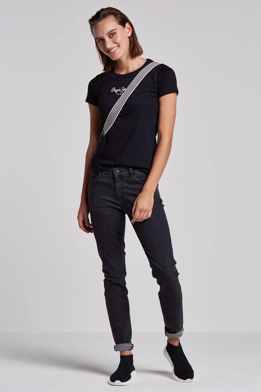 Pepe Jeans New virginia T-shirt, Zwart