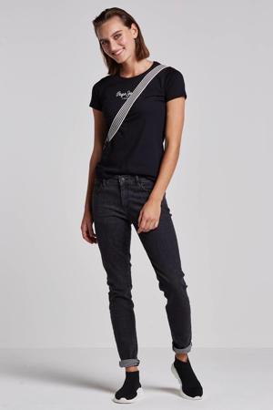 New virginia T-shirt zwart