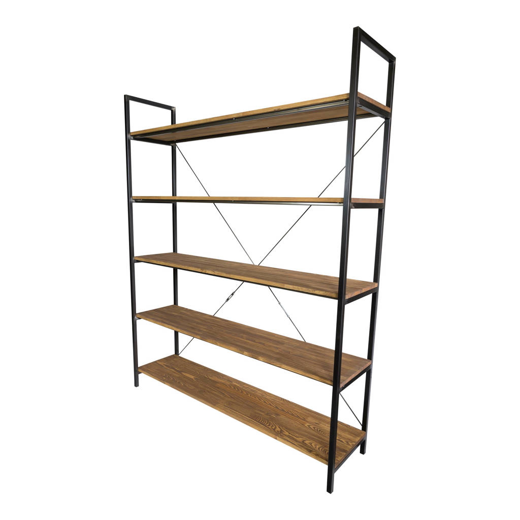 Spinder Design Cage L wandkast, bruin, zwart