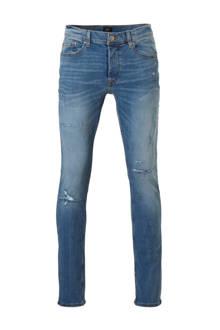 slim fit jeans met slijtagedetails