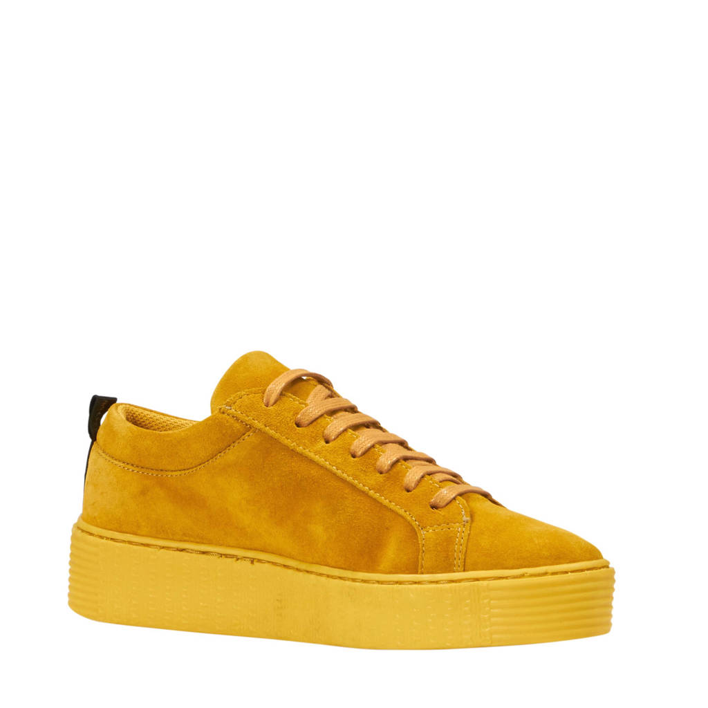VERO MODA  suède sneakers, Oker